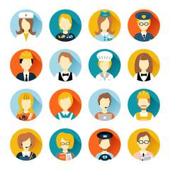 Profession avatar on circles