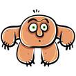 Funny cartoon monster, vector illustration.