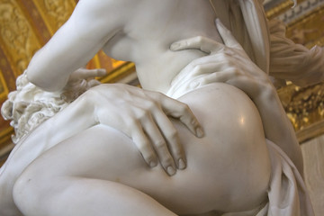 Detail of sculpture by Gian Lorenzo Bernini, Rape of Proserpine