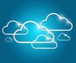 border clouds illustration