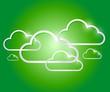 border clouds illustration design