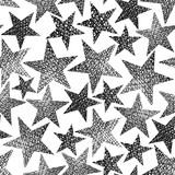Stars seamless pattern, vector repeating