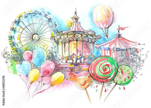 Papiers peints Attraction parc carousels