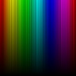 Rainbow aurora spectral gradient