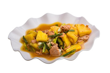 Pork and pineapple