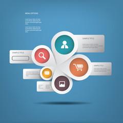 Round white infographics