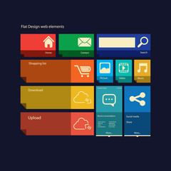 Flat design icons layout vector illustration