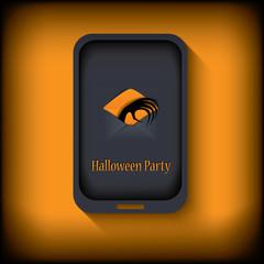 Halloween postcard design