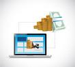 make money online. web profits guide. illustration