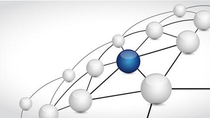 link spheres illustration design