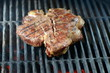 Beef steak grilled on a bbq, florentine t-bone beef steak