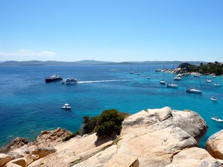 Rocks and sea in La Maddalena archipelago, Spargi, Sardinia