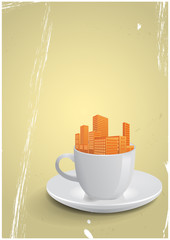 city coffee cup