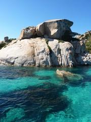 Rocks and sea in La Maddalena archipelago, Spargi, Sardinia