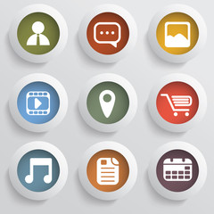 Various applications icon set