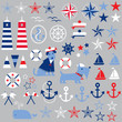 Постер, плакат: nautical clipart