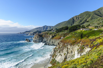 California coast, Big Sur,view from highway no. 1
