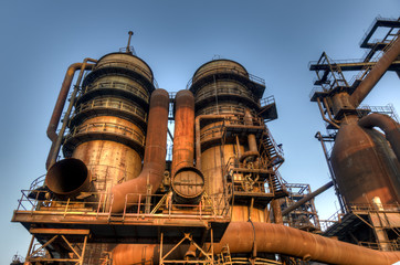 Industry for manufacturing of pig-iron, Ostrava, Czech Republic