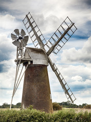 Ancient windmill in Norfolk UK