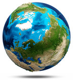 Earth - north