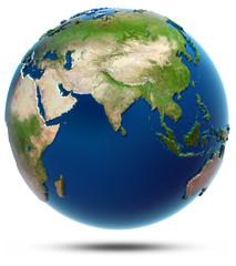 World map - Indian Ocean