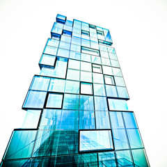 Abstract building white isolated
