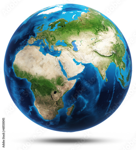 World real mountains relief - 68138045