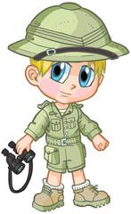 Anime Safari Boy Vector Cartoon