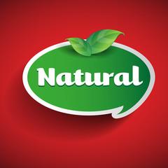 Natural label - speech bubble