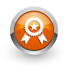 award orange glossy web icon