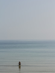hombre en el mar