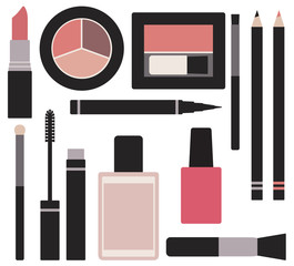 Makeup vector set