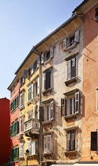 Old town in Rovinj. Istria. Croatia.