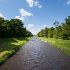 straight river in Germany