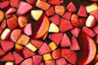 Leinwandbild Motiv closeup of sangria fruits