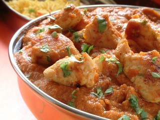traditional Indian curry in dish