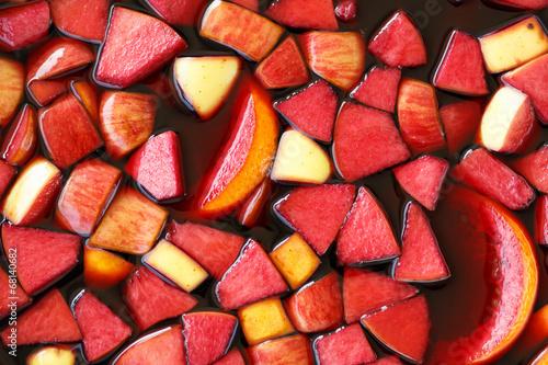 closeup of sangria fruits - 68140682