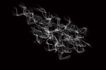 abstract smoke isolated on black background