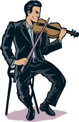 Stylized Violinist