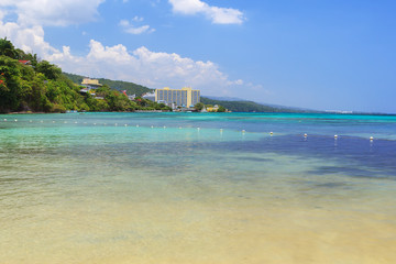 Beach turquoise transparent caribbean sea Jamaica