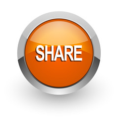 share orange glossy web icon