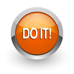do it orange glossy web icon