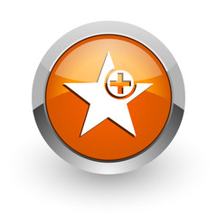 star orange glossy web icon