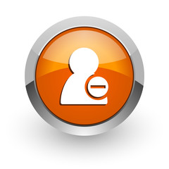 remove contact orange glossy web icon
