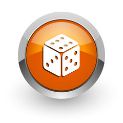 game orange glossy web icon