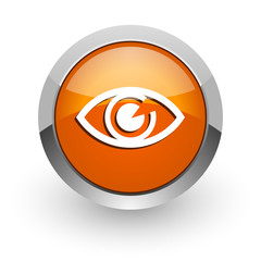 eye orange glossy web icon