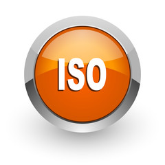 iso orange glossy web icon