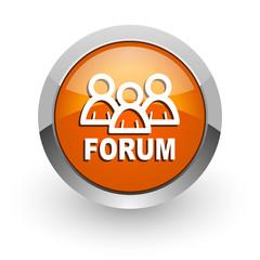 forum orange glossy web icon