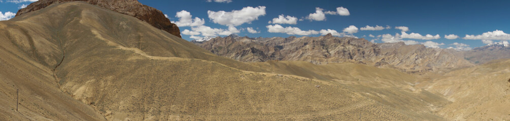 Beautiful scenic view at Namika La,altitude 12198 Ft. in Ladakh,