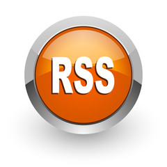 rss orange glossy web icon
